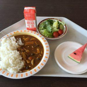 「夏の旬ちゃんカレーセット」が県庁食堂に1日だけ登場します!