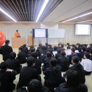 軽井沢中学校に行ってきました♪