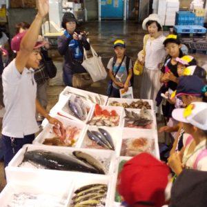 夏休み自由研究イベント「市場探検!」を開催しました。