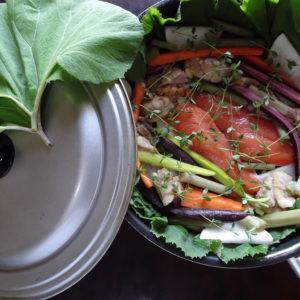 信州で楽しめる縄文風料理-フライパンひとつで料理する-